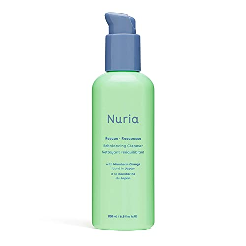 Nuria - Rescue Rebalancing Daily Facial Cleanser, Face Cleanser for Oily Skin, Troubled Skin Face Wash with Mandarin Orange, 200mL/6.8 fl oz