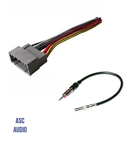 ASC Audio Car Stereo Wire Harness and Antenna Adapter to Install an Aftermarket Radio for Select Dodge Chrysler - Compatible Vehicles Listed Below