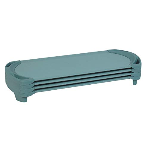 """Angeles SpaceLine Cot, Teal Green (Set of 4) – Standard Size 55"""" by 22"""" by 5"""" Standard (Pack of 4) (AFB5735AGN)"""