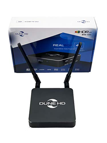 Dune HD RealBox 4K | ULTRA HD | HDR10 + | 3D | DLNA | Streaming Media Player und Smart Android TV Box | RTD1395 | 2 USB, HDMI, WiFi 802.11ac, MKV, H.265, 4Kp60