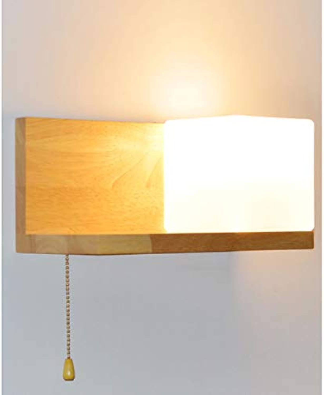 Wandleuchte Mit Lampe, Log Wall Lamp, Hlzerne Gang Gang Treppe, Schlafzimmer Massivholz Wand Lampen Und Laternen,C