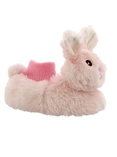 Yankee Toy Box Plush Animal Toddler Boys Girls Sock Top Slippers (5-6 M US Toddler, Bunny Pink)