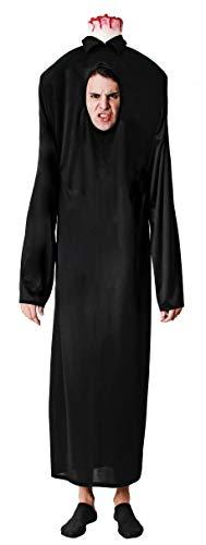 Gojoy shop- Disfraz de Sin Cabeza para Hombres y Mujeres Halloween Canaval (Contiene Túnica con Agujero y Pieza de Cabeza, Talla Unica)