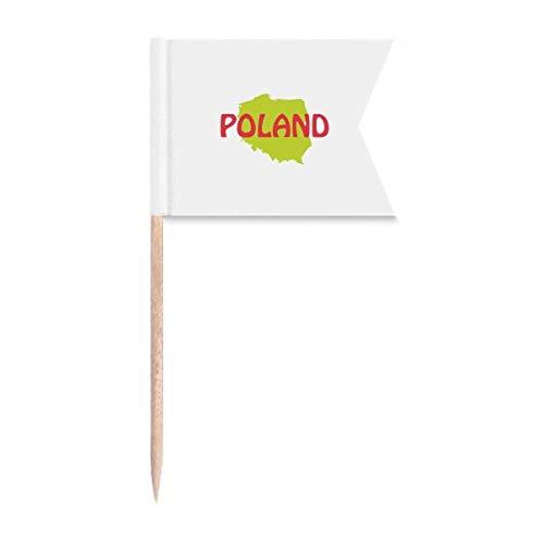 Europäische Karte Warschau Polen Zahnstocher Flaggen Kennzeichnung für Party Kuchen Lebensmittel Käseplatte