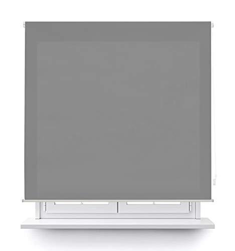 DABUTY ONLINE, S.L. Estor translúcido Liso para Ventana. Estores Enrollables para Ventanas y Puertas (Gris, 100 x 180 cm)