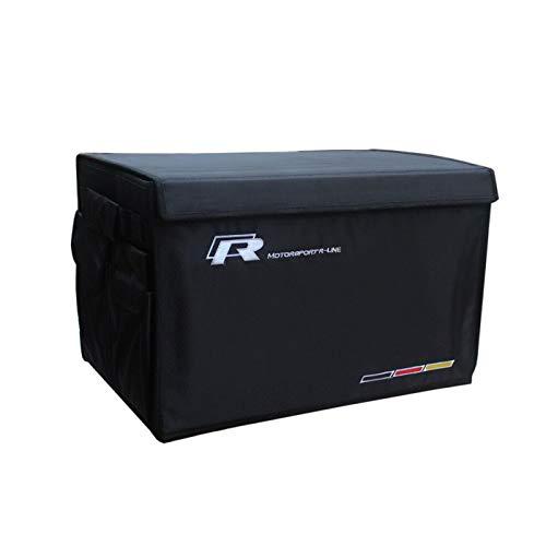 Mynew Car Luggage Organizer Foldable Cargo Storage Bin Black Fit For VW MAGOTAN Scirocco Wagon Golf GTI/GTE Polo Jetta SANTANA