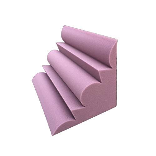 Babyzimmer Decken schallabsorbierende Baumwolle, Bar Corner schallabsorbierenden Material Restaurant Hotel Acoustic Panels Lila / Schwarz Geeignet zum Einkleben von Türverkleidungen ( Color : Purple )