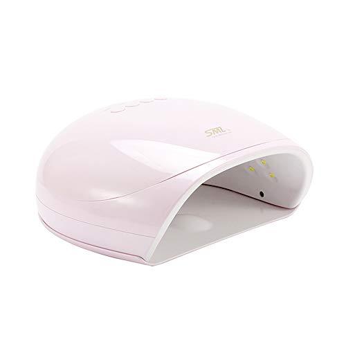ZYC Secador de uñas UV LED de 48 W para todos los geles de uñas, lámpara de uñas Dual Light Nail Art Tool 10S/30S/60S, temporizador profesional, lámpara LCD, color rosa
