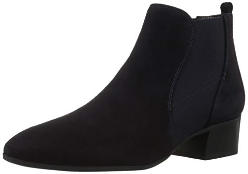 Aquatalia Women's Falco Suede Chelsea Boot, Navy, 10.5M US