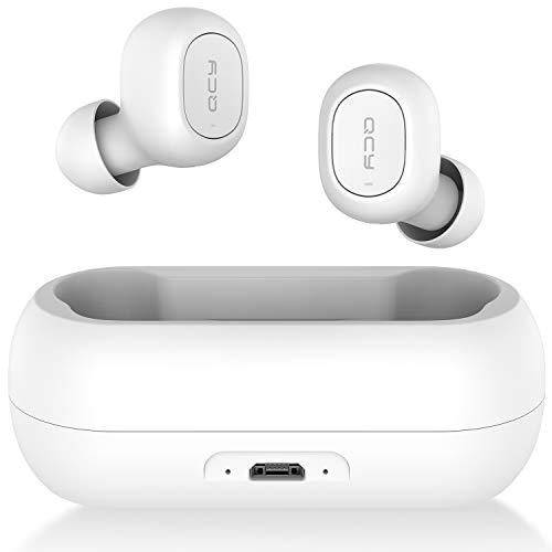 QCY T1 ワイヤレスイヤホン Bluetooth 5.0 自動ペアリング 完全ワイヤレス ブルートゥース イヤホン bluetooth イヤホン マイク付き カナル Hi-Fi 高音質 両耳 片耳 ハンズフリー 通話 防水 イヤホン ワイヤレス ヘッドホン ヘッドセット 長時間 スマホ iPhone Android対応 ホワイト QCY-T1WH