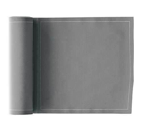 Serviette de table en coton 20x20cm - Idéale pour fête, anniversaire, cocktail - Rouleau de 25 serviettes - Gris