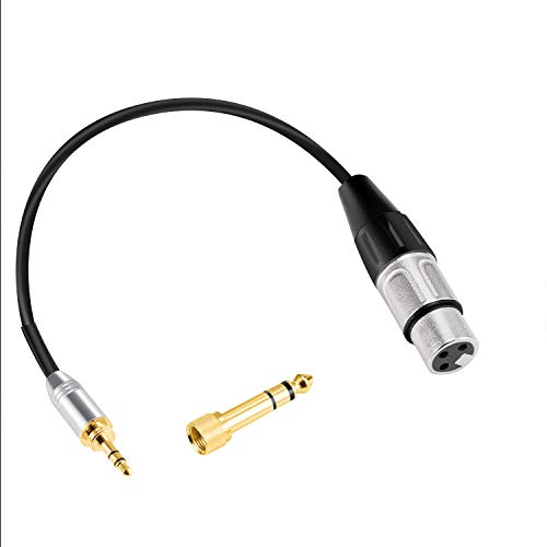 iPod 3.5mm to XLR Cable Unbalanced 1//8 Stereo Plug to XLR Male Microphone Cable XLR to 3.5mm Cable Compatible with iPhone JOLGOO and More 3.3 Feet Computer Video Camera