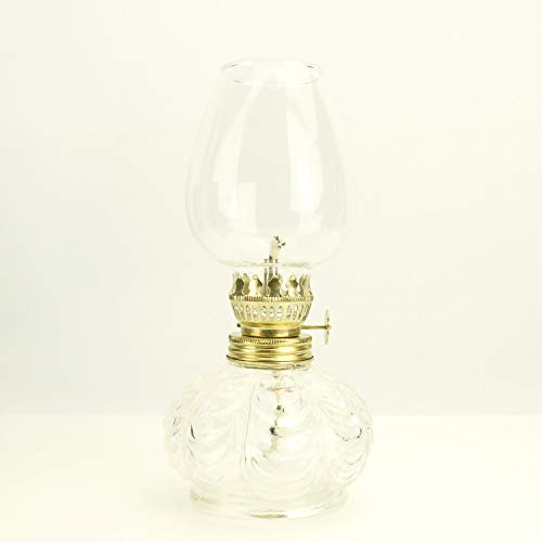 Purisme-stijl - glazen kerosine olielamp lantaarn (kleur helder)