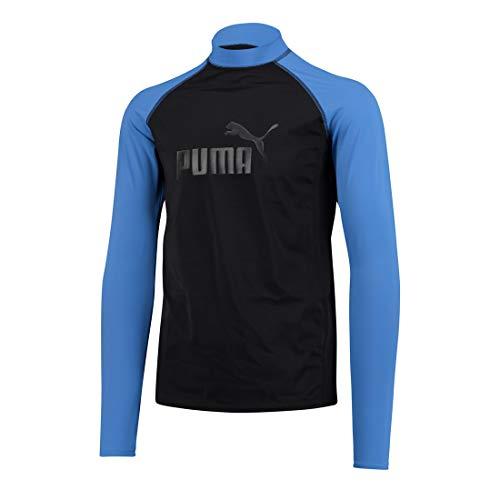 PUMA Rashguard Swim Long Sleeve Herren Langarm Oberteil, Bekleidungsgröße:L, Farbe:Blue