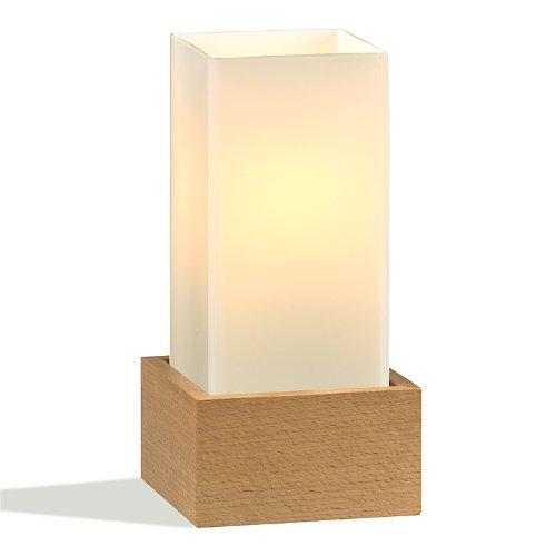 Japan-Shop-Yumeya Handmade Glas Leuchte Yuki EKS Buche Natur 26,5 x 12 x 12 cm