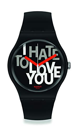 Swatch orologio HATE 2 LOVE 41mm Originals New Gent SUOB185