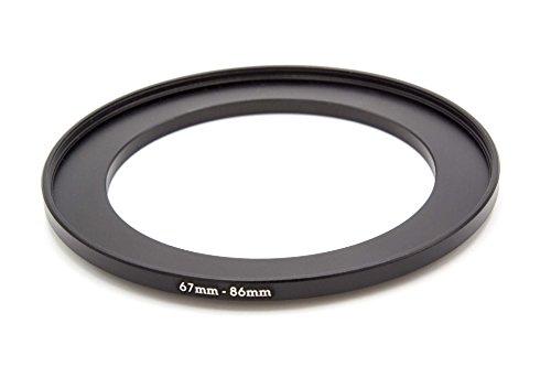 vhbw Adaptador Filtro Step-up Metal 67mm-86mm Negro para cámaras Tamron 16-300 mm F3.5-6.3 Di II VC PZD Macro