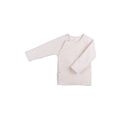 Camisa iobio bebé de tejido de rizo bolso para pañales y cambiador camiseta de manga larga algodón orgánico colour crema crudo Talla:62/68