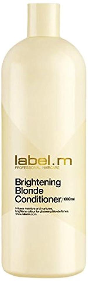 ギャングスター胚芽背景レーベルエム ブライトニングブロンド コンディショナー (髪に潤いと栄養を与えて明るく輝くブロンドヘアに) 1000ml/33.8oz