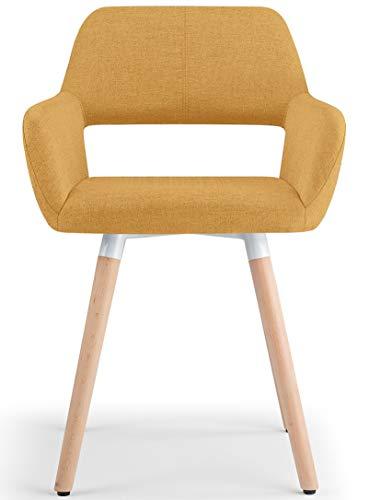 olso tela silla de comedor, color amarillo