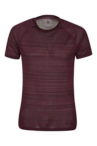 Mountain Warehouse Camiseta Endurance con diseño a Rayas para Hombre - Protección UV UPF40, Ligera, de Secado rápido, Transpirable - para Caminar, Correr o Senderismo
