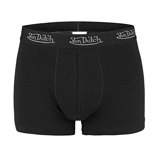 Von Dutch 2er Pack Basic Boxer Boxershorts Herren Unterwäsche VD1BCX2, Farbe:Black, Bekleidungsgröße:L