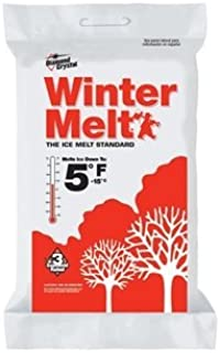 Diamond Crystal Winter Melt Rock Salt Ice Melter Bagged 50 Lb