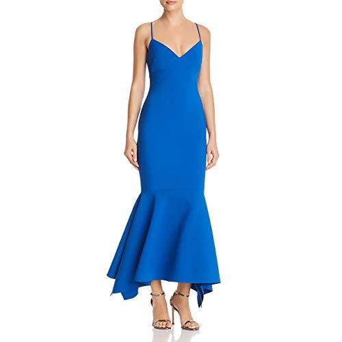 LIKELY Womens Christiana Sleeveless Mermaid Evening Dress Blue 4