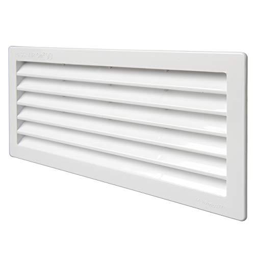 la Ventilazione P252510B Griglia di Ventilazione Rettangolare, Bianco, Dimensioni 254X108 Mm