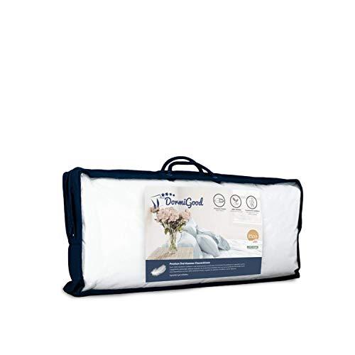 DormiGood - Premium Daunenkissen 45 x 70 cm 100% Natur - 3 Kammer Kopfkissen 45x70 580g extra weich - Hochwertiges Inlay aus Baumwolle