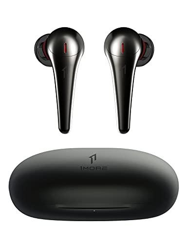 [2021CES] 1MORE ComfoBuds Pro Auriculares Inalámbricos, Auriculares Bluetooth con Cancelación Activa del Ruido y Graves Profundos, 5 Modos Adaptables, Carga Rápida, 28 Horas de Reproducción,Negro
