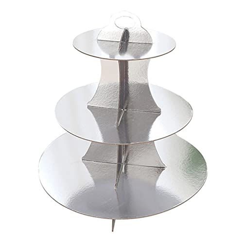 unknows Round Paper Three-Layer Cake Stand Holder Dessert Table Tray Cupcake Display Cake Stand Holder