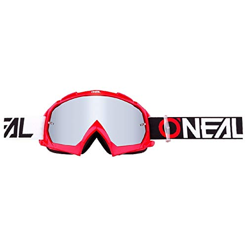 O'NEAL B10 Twoface Goggle Goggle MX DH Brille rot/Mirror silberfarben Oneal