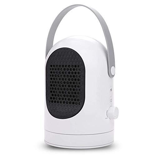 Covok - Calefactor eléctrico, pequeño calefactor portátil solar de bajo consumo, 600 W, calefactor eléctrico con termostato 600W Weiß