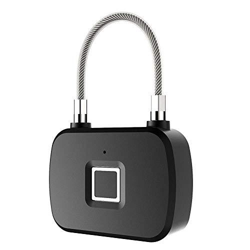 Vingerafdrukslot Smart Keyless Antidiefstal Biometrisch elektronisch hangslot voor reiskoffer Fiets Deurslot met vingerafdruk