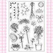 kanban sugar buttons clear stamp embellishments
