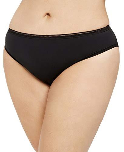 Calvin Klein Women's Seductive Comfort Running Leopard Bikini Panty QF5355 3X Black