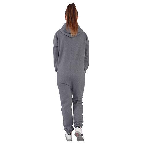 DI5 Finchgirl Damen Jumpsuit Jogging Anzug Trainingsanzug Overall Dunkelgrau - 2