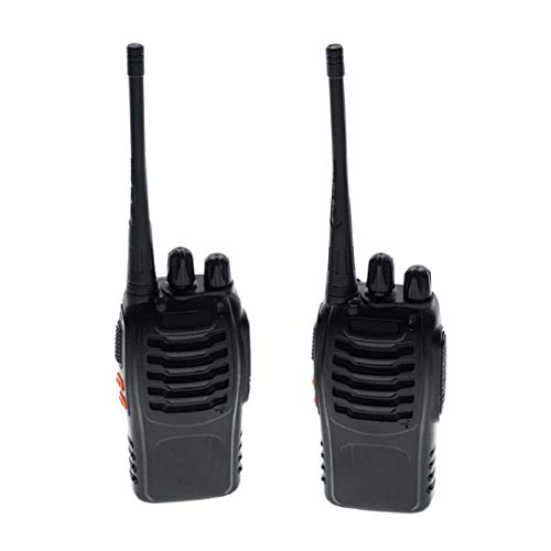 MatLogix BF-888S Walkie Talkies Adults Long Range Two Radios UHF 400-470Mhz 16 Channels 1500mAh Li-ion Rechargeable Battery (2 Pack, Black)