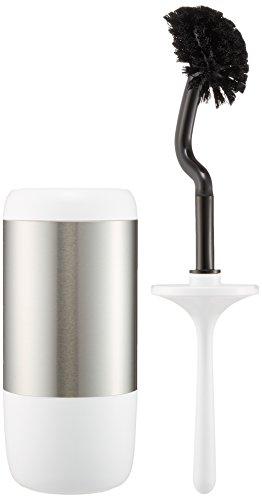 WENKO 21283100 WC-Garnitur Loft - WC-Bürstenhalter, Edelstahl rostfrei, 11 x 41 x 11 cm, Satiniert