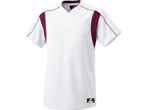 [エスエスケイ] ベースボールウェア 2ボタンベースボールTシャツ [メンズ] BW2080 ホワイト×エンジ (1022) 日本 XO (日本サイズ3L相当)