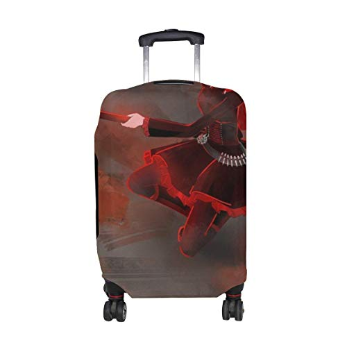 Maxm Rwby Ruby Rose Girl Scythe Weapon Pattern Print Travel Luggage Protector Baggage Suitcase Cover Fits 18-21 Inch Luggage