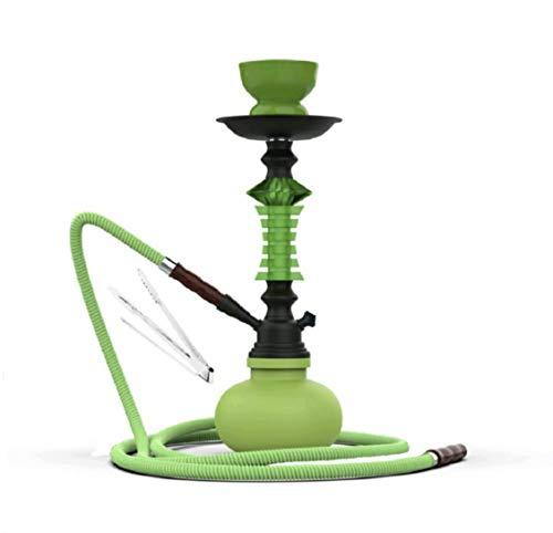 Cachimba B8-1 JSG.HOOKAH De 1 Salidas, Shisha De 33cm De Altura, 1 Mangueras, 1 Pinzas, Pipa De Agua, Color (verde)