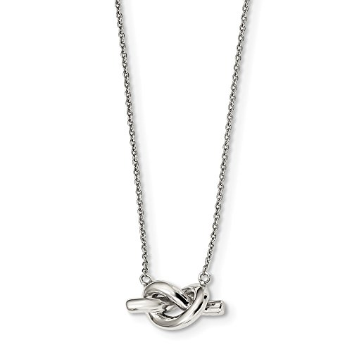 925 Sterling Silver Knot Chain Necklace Pendant Charm Love Fine Jewelry For Women Gifts For Her