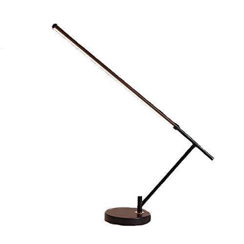 ZCYY Lámpara de pie, Lámpara de pie, Lámpara de pie Ajustable de luz Blanca/cálida LED con Estante, Lámparas de pie Minimalistas Modernas en Blanco y Negro Lámpara de Mesa, Sala de es