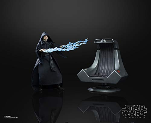 "Star Wars The Black Series Emperor Palpatine Action Figure with Throne 6""-Scale Return of The Jedi Collectible (Amazon Exclusive)"