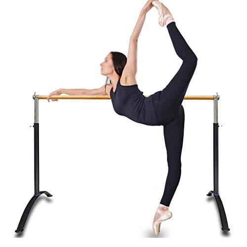 Wall Sculptures Ballet Equipment Free Standing, Ballet Barre Portable for Home or Studio, Height Adjustable Bar for Stretch, Pilates, Dance or Active Workouts, Single Bar, Kids and Adults 100X70cm