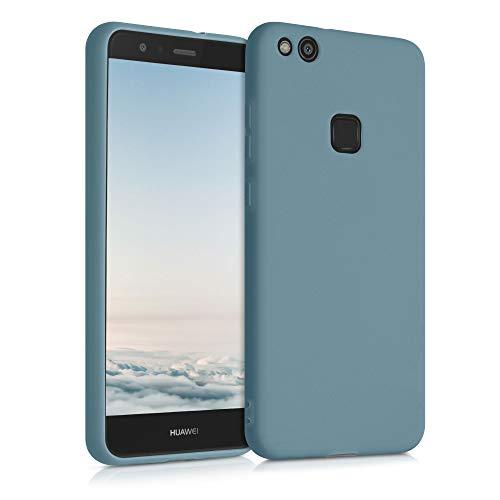 kwmobile Carcasa para Huawei P10 Lite - Funda para móvil en TPU Silicona - Protector Trasero en Gris frío Oscuro