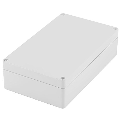Akozon Junction Box, wasserdicht IP65 ABS-Projekt Gehäuse Fall Verdrahtung Anschlussdose 200 * 120 * 56mm DIY Kunststoff Gehäuse Fall Power Abzweigdose