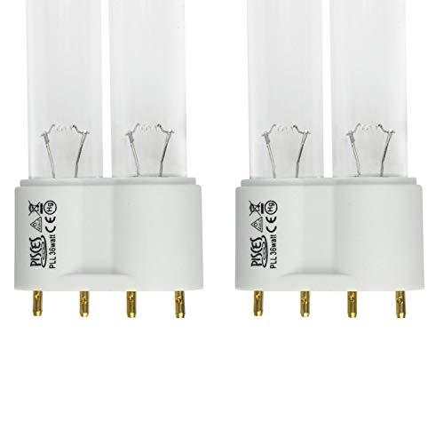 Lot de 2 (W) 36 W Lampe Ampoule UV PLL de remplacement pour filtre de bassin UVC